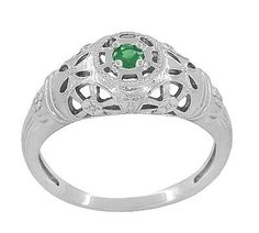 Ringjewels Round Cut 0.15 Ct Green Emerald Diamond Pendant With1 8 Chain 14K White Gold Plated Sterling