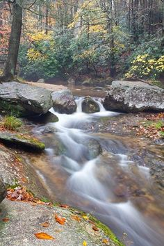Waterfalls on Roaring River At Stone Mountain A NC State Park | JohnHarmonGallery - Photography on ArtFire