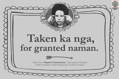 'Stupid is Forevermore': 15 Miriam Santiago quotes that will make you think and laugh Hugot Lines Tagalog Funny, Tagalog Quotes Hugot Funny, Memes Tagalog, Hugot Quotes, Filipino Quotes, Pinoy Quotes, Filipino Funny, Tagalog Love Quotes, Filipino Pick Up Lines