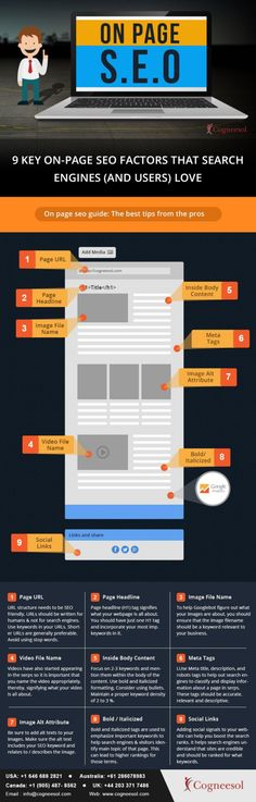seo on page #INFOGRAPHIC #SEO