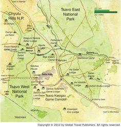 Nice maps. Tsavo West National Park - Its Time For Africa