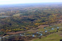 Winding Qu'Appelle River