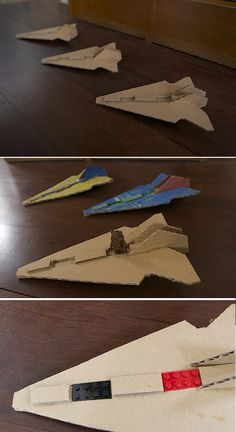 starwars nave carton cardboard raumschiff harton spielzeug toy juguete kinder kids niños craft manualidad basteln