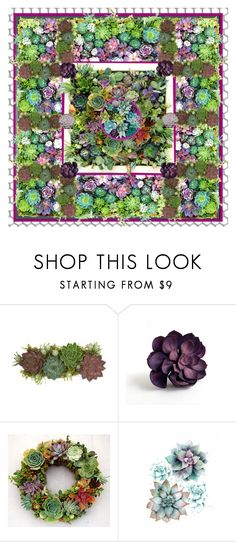 """""""Succulent Garden"""" by shannon-brennan ❤ liked on Polyvore featuring interior, interiors, interior design, home, home decor, interior decorating, Jayson Home and CO"""