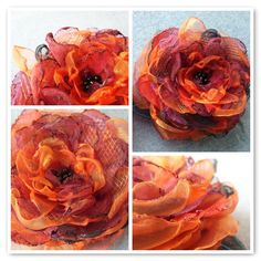 OnePerfectDay Organza Flower on BlueCollarBride blog!