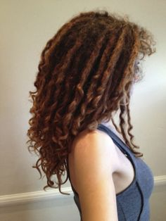 Curly dreads