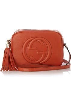 Gucci|Soho Camera textured-leather shoulder bag