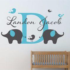 Cute Elephant Family Decals Baby Retro Nursery Decor Hipster Vinyl Wall  Sticker For Kids Room Modern Vintage Safari Decor On Etsy, $27.70 AUD |  Pinterest ...
