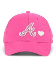 5f38353752e48  47 Brand Girls  Atlanta Braves Sugar Sweet Mvp Cap - Pink Child Tecidos