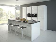 De open keuken is helemaal een trend, de keuken wordt steeds meer samen gevoegd met de leefruimte