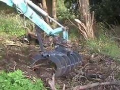 Excavator land grapple