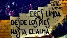 Eres linda desde los pies hasta el alma #Acción Poética Jujuy #accionpoetica