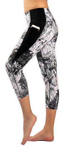 2f0bf9c25b Zinmore Women's Capri Yoga Pants Exercise Running Workout Leggings with  Pockets