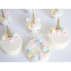 Unicorn Cake Pops & Chocolate Covered Oreos. ⭐️#creativeediblesbyyuki #cakepops #chocolatecoveredoreos #ceyjapan #ceyjapanacademy