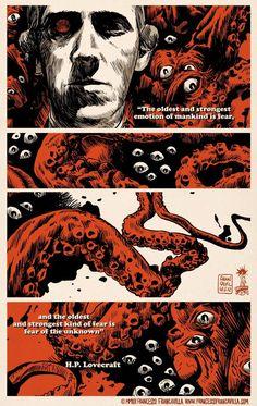 H.P. Lovecraft, di Francesco Francavilla.
