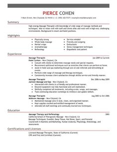 New Massage Therapist Resume Examples Resume Examples Purdue  Pinterest  Resume Examples