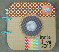 Doodlebug Design Inc Blog: Kraft in Color: Insta-Love Mini Album by Kathy