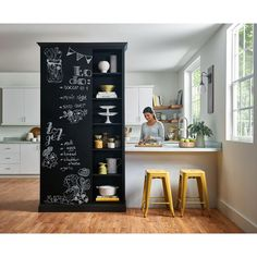 FORMICA Writable Surfaces bring surfaces to life with a wide range of durable markerboard and chalkboard options in beautiful colors and inspiring patterns, perfect for any room in your home. Chalkboard Wall Kitchen, Chalkboard Wall Bedroom, Chalk Wall, Black Chalkboard, Kitchen Decor, Kitchen Design, Sweet Home, White Dining Chairs, Accent Chairs
