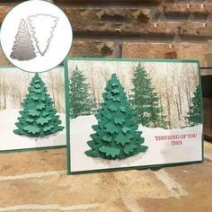 winter woods stampin up Christmas cards Christmas Cards 2018, Noel Christmas, Christmas Paper, Xmas Cards, Winter Christmas, Handmade Christmas, Holiday Cards, Scrapbooking Photo, Embossed Cards