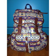 Urban Outfitters Medium Sized Backpack This Aztec print backpack is super cute and has plenty of pockets for all your things. In great condition. Only thing is the bottom is a little blue from wearing with jeans and dye rubbing off. Barely noticeable since its on the bottom. Urban Outfitters Bags Backpacks