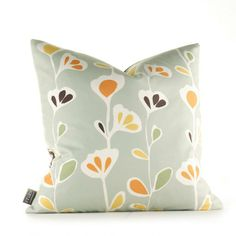 Inhabit Bedding pussy willows in celery pillow - your source for inhabit products