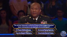 """Tuesday, #Army #NationalGuard Sergeant 1st Class Daniel Wade faces an #arthropod on #MillionaireTV #ArmedForcesWeek. Root for him as he plays for #Christmas riches on Tuesday's special all-new """"Millionaire"""" with host Chris Harrison. Go to www.millionairetv.com for time and channel to watch."""