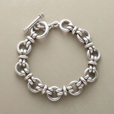 From the Sundance Catalog. Chunky link bracelet in sterling silver. I've owned it for years and love it as much today as the day I got it!
