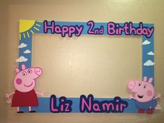 Pepa Pig Photo Booth Frame to Take Pictures Birthday | eBay