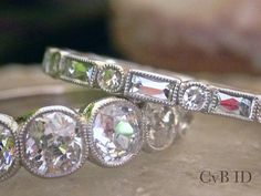 French Cut Baguette and Round Diamond by CVBinspiredDesign on Etsy