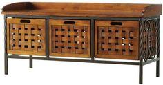Isaac Wooden Storage Bench, 20Hx42.5Wx15.5D, OAK, http://www.amazon.com/dp/B00666Z16A/ref=cm_sw_r_pi_awd_PfuGsb1HBHQ8G