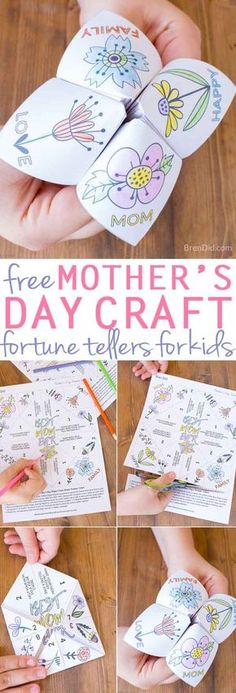 Easy Mother's Day Craft for Kids | Mother's Day Fortune Teller | free printable Mother's Day craft | Mother's Day free printable craft via @brendidblog