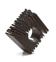 BASALT ....  -Annamaria Zanella Ring: Monolite, 2016 Basalt 3.8 x 1.8 x 3.6 cm…