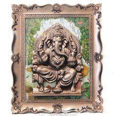Sri Ganesha Statue Frame For Wall Hanging. Send GiftsGifts ...