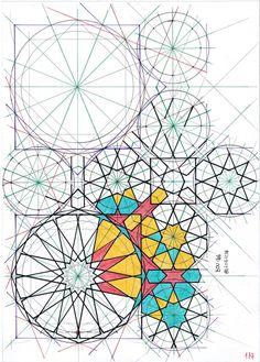Right on Time (Mercury stations direct) Geometric Patterns, Geometric Designs, Geometric Shapes, Islamic Art Pattern, Arabic Pattern, Pattern Art, Motifs Islamiques, Tesselations, Geometry Art