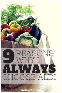 Aldi provides the single best grocery store value!  Not only do they pay their employees a decent wage, they offer a 200% Money-Back Guarantee, and their products stand up to name brands found in other stores! 9 Reasons Why I ALWAYS Choose Aldi - Retired by 40 http://www.retiredby40blog.com/2014/10/03/8-reasons-always-choose-aldi/