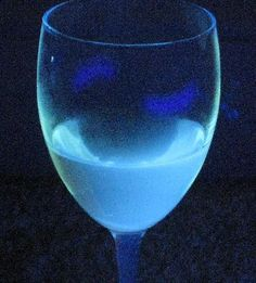 Canola oil is one type of vegetable oil that glows under black light.