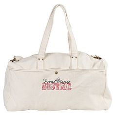 Marine Corps (USMC) Sister Duffle / Workout / Gym Bag with Pink Butterfly - - GirlWithDesignIdeas.com