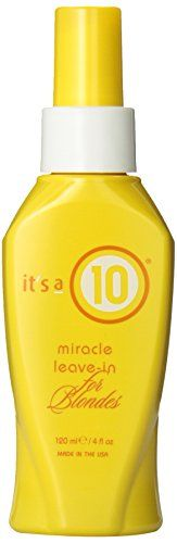 awesome It's a 10 Blonde Miracle Leave in Treatment, 4 Ounce