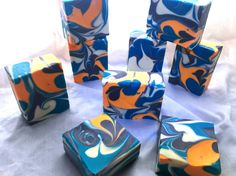 Cold process soap making, Pipe Divider Swirl.
