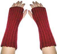 crochet beginner wrist warmers