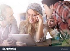 Group Of Teens Using Digital Technologies Стоковые фотографии 202255522 : Shutterstock