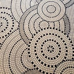 Mosaic Tile Pattern - Reminds me of parasols, and would be really cool with colored tiles as well!