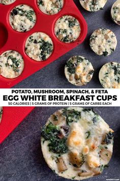 4 Points About Vintage And Standard Elizabethan Cooking Recipes! These Egg White Cups Are Loaded With Veggies But Require Minimal Prep Thanks To Simple Ingredient Selection. They're Great As A Breakfast Meal Prep Recipe Egg White Breakfast, Breakfast Cups, Breakfast Recipes, Breakfast Ideas, Healthy Breakfast Meal Prep, Healthy Meal Prep, Healthy Foods To Eat, Healthy Eating, Healthy Recipes