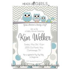 Set of 12 Personalized Gray and Yellow or Blue by HeadsUpGirls, $18.00