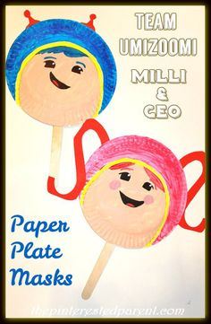 Paper Plate Team Umizoomi Masks