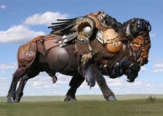Scrap Metal Sculptures by John Lopez