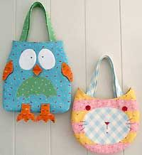 easy owl purse patterns free | The Owl and The Pussy Cat Bag Patterns by Melly and Me