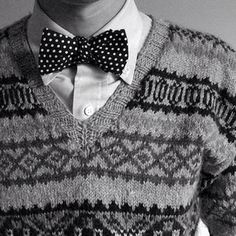 Knit jumper, shirt , bow-tie = baby's made