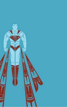 Superman By Jeffrey Veregge - Epic Superhero Art in a Traditional Native American Style ! Native American Design, Native American Artists, Native American Fashion, Comic Book Heroes, Comic Books Art, Hero Marvel, Wallpaper Bonitos, Comic Kunst, Wallpaper Aesthetic