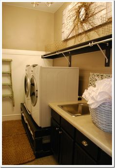 laundryroom (w & d base and a place to hang stuff….